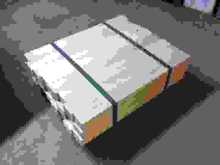 TABLE BASSE DE SALON BOIS SUR ROULETTES par Loft Industry Scandinave