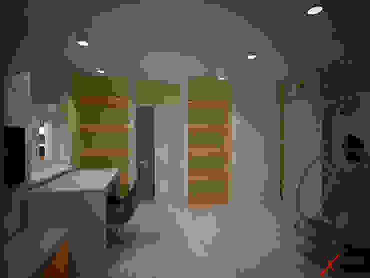Dom z poddaszem Minimalistyczny pokój dziecięcy od Axentim Minimalistyczny