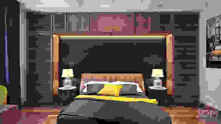 09 Спальня в стиле минимализм от студия визуализации и дизайна интерьера '3dm2' Минимализм