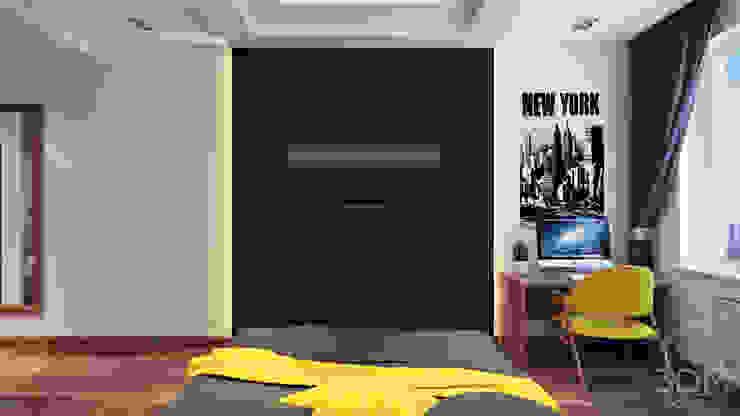 10 Спальня в стиле минимализм от студия визуализации и дизайна интерьера '3dm2' Минимализм