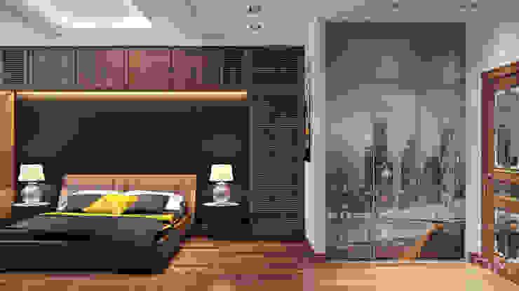 11 Спальня в стиле минимализм от студия визуализации и дизайна интерьера '3dm2' Минимализм