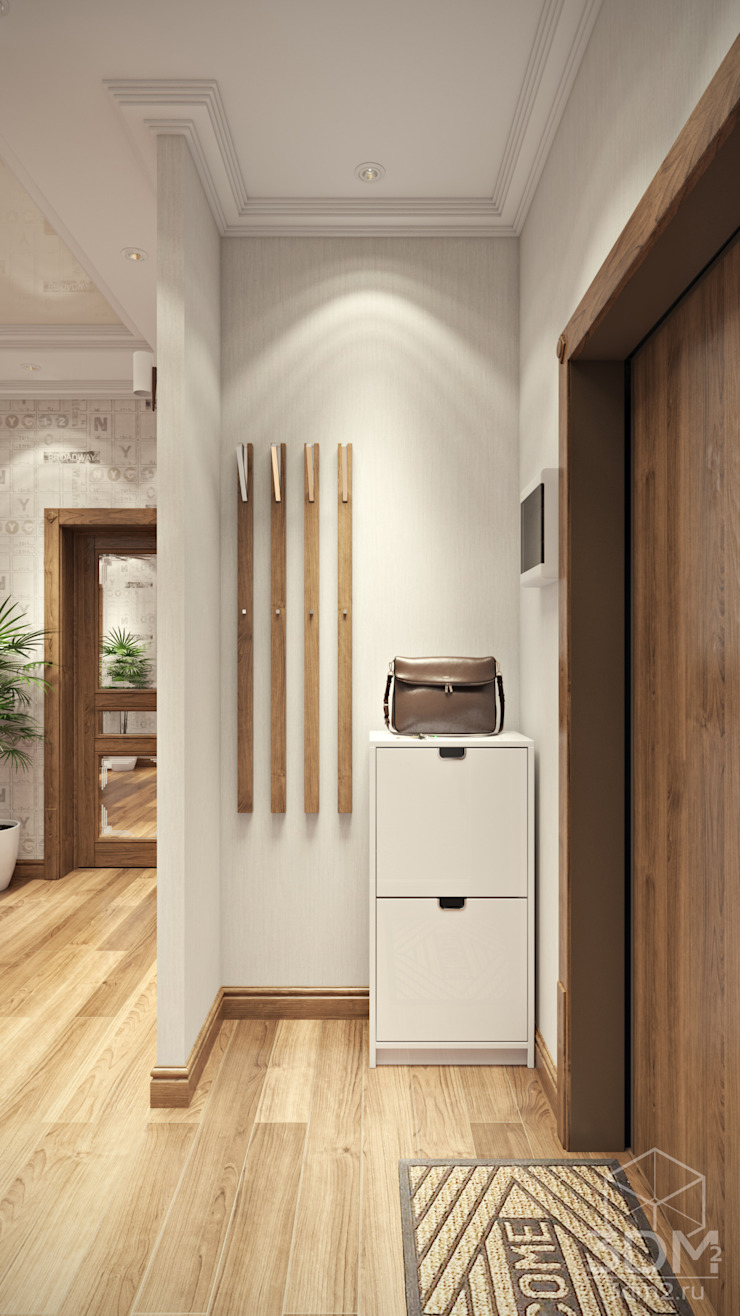 17 Коридор, прихожая и лестница в стиле минимализм от студия визуализации и дизайна интерьера '3dm2' Минимализм