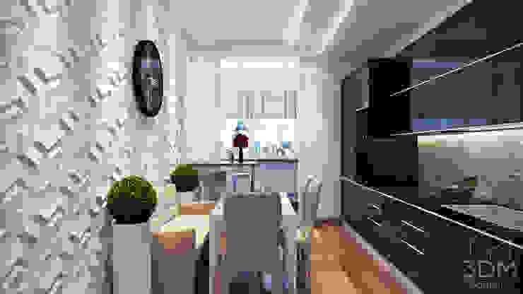 18 Кухня в стиле минимализм от студия визуализации и дизайна интерьера '3dm2' Минимализм