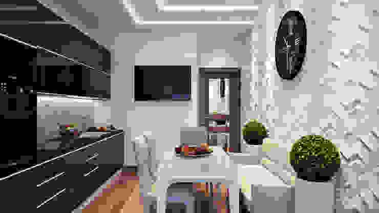 19 Кухня в стиле минимализм от студия визуализации и дизайна интерьера '3dm2' Минимализм