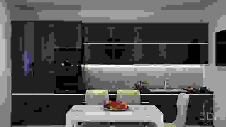 21 Кухня в стиле минимализм от студия визуализации и дизайна интерьера '3dm2' Минимализм