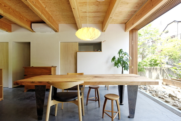 住吉山手の家 オリジナルデザインの ダイニング の H+M アトリエ オリジナル