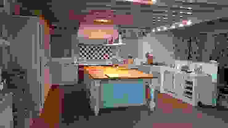 Medinaceli gris y blanco en Santander Cocinas de estilo rústico de Gamahogar Rústico