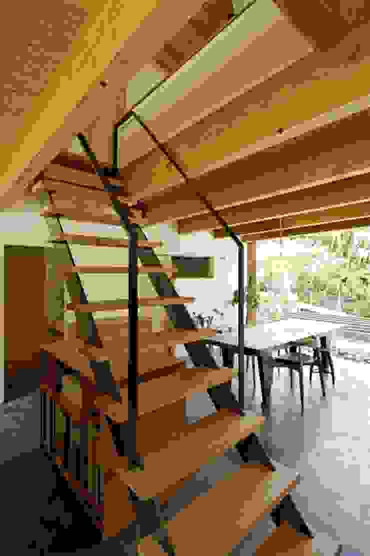 住吉山手の家 オリジナルスタイルの 玄関&廊下&階段 の H+M アトリエ オリジナル