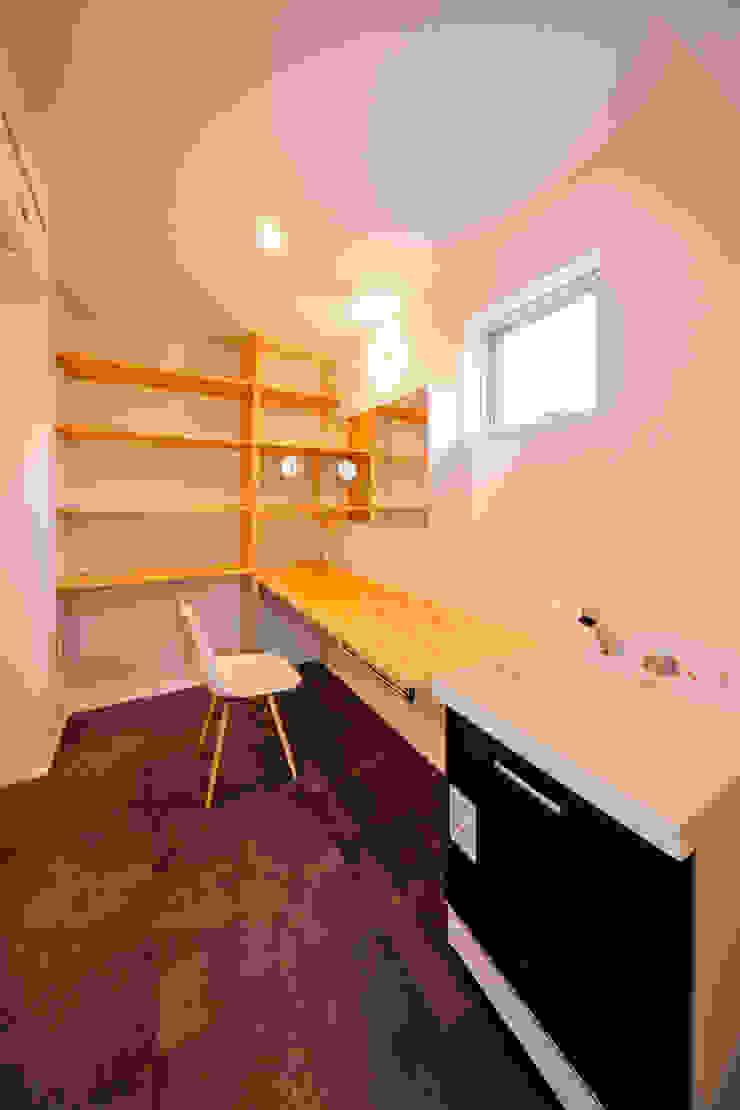 トトロ 洗面脱衣室 モダンスタイルの お風呂 の キリコ設計事務所 モダン