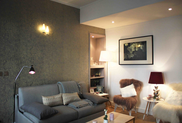 Projekty,  Salon zaprojektowane przez NUTS & Architects, Klasyczny