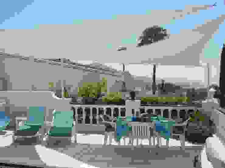 Various Shade Ideas Mediterranean style balcony, veranda & terrace by Kemp Sails LTD Mediterranean