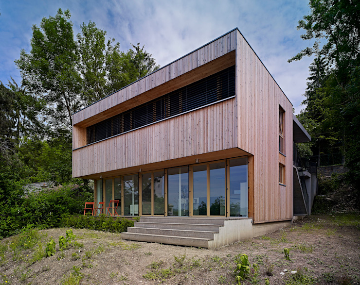 Construction d'une maison individuelle Mur Ossature Bois, Altkirch Maisons scandinaves par LPAA Scandinave