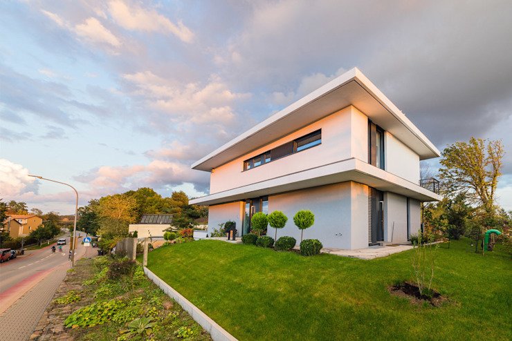 opEnd house—Single Family House in Lorsch, Germany Helwig Haus und Raum Planungs GmbH Modern houses
