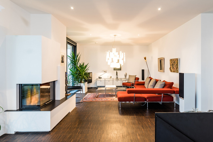 opEnd house - Single Family House in Lorsch, Germany Modern Living Room by Helwig Haus und Raum Planungs GmbH Modern