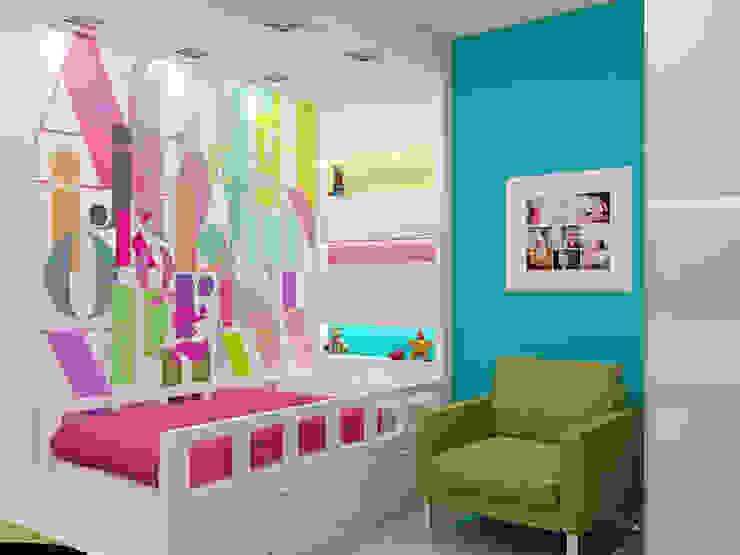 """<q class=""""-first"""">Нано-квартира</q> Детская комнатa в стиле минимализм от 'Лайф Арт' Минимализм"""