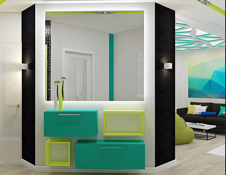 """<q class=""""-first"""">Нано-квартира</q> Коридор, прихожая и лестница в стиле минимализм от 'Лайф Арт' Минимализм"""