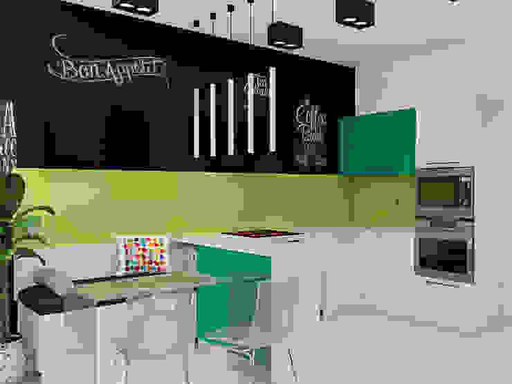 """<q class=""""-first"""">Нано-квартира</q> Кухня в стиле минимализм от 'Лайф Арт' Минимализм"""