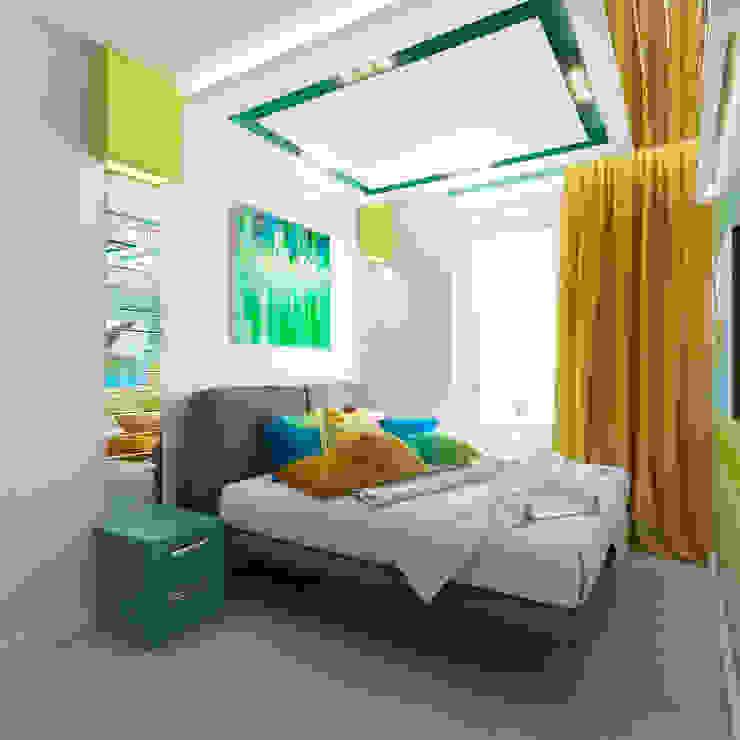 """<q class=""""-first"""">Нано-квартира</q> Спальня в стиле минимализм от 'Лайф Арт' Минимализм"""
