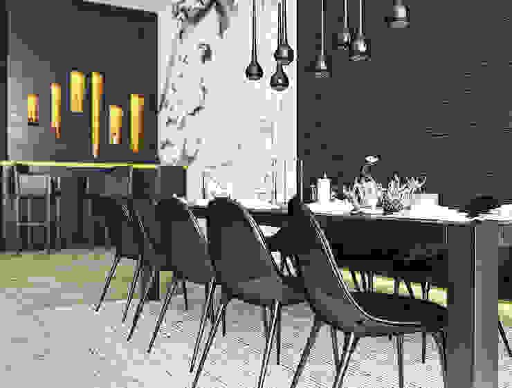 В гармонии с природой ILKIN GURBANOV Studio Столовая комната в стиле модерн