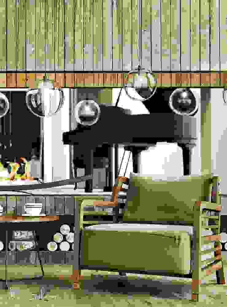 В гармонии с природой ILKIN GURBANOV Studio Гостиная в стиле модерн
