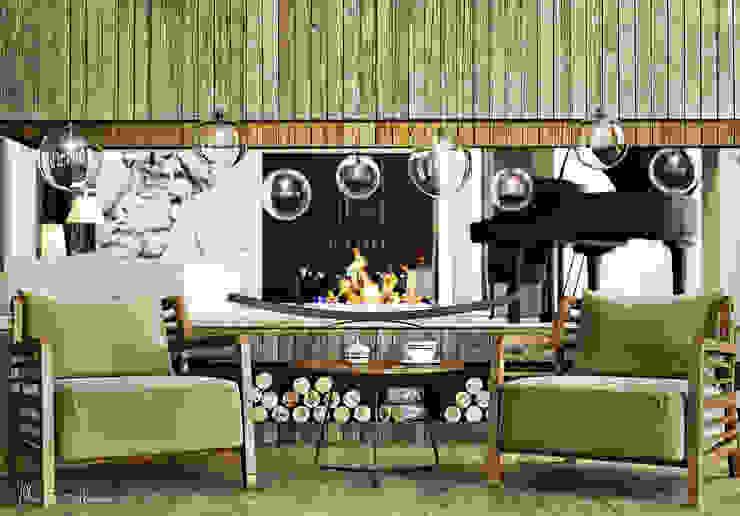 Projekty,  Salon zaprojektowane przez ILKIN GURBANOV Studio, Nowoczesny