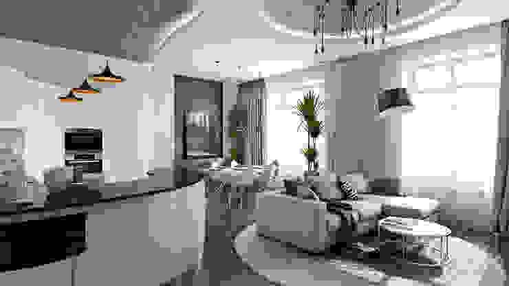 Salones de estilo  de студия визуализации и дизайна интерьера '3dm2', Minimalista