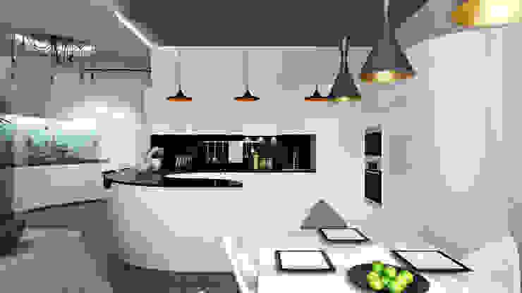 05 Столовая комната в стиле минимализм от студия визуализации и дизайна интерьера '3dm2' Минимализм