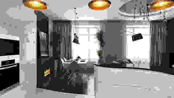 07 Кухня в стиле минимализм от студия визуализации и дизайна интерьера '3dm2' Минимализм