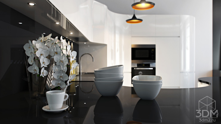 09 Кухня в стиле минимализм от студия визуализации и дизайна интерьера '3dm2' Минимализм