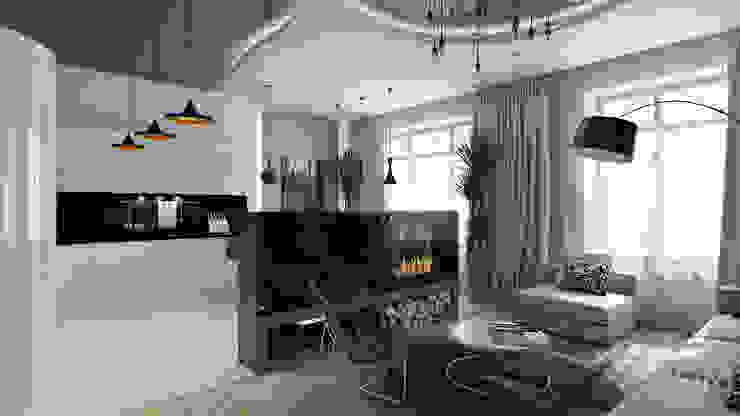 11 Медиа комната в стиле минимализм от студия визуализации и дизайна интерьера '3dm2' Минимализм
