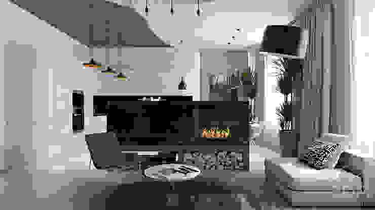 12 Медиа комната в стиле минимализм от студия визуализации и дизайна интерьера '3dm2' Минимализм