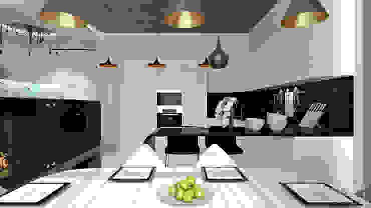 14 Столовая комната в стиле минимализм от студия визуализации и дизайна интерьера '3dm2' Минимализм
