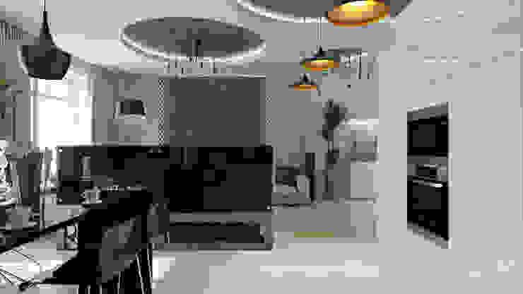 15 Кухня в стиле минимализм от студия визуализации и дизайна интерьера '3dm2' Минимализм