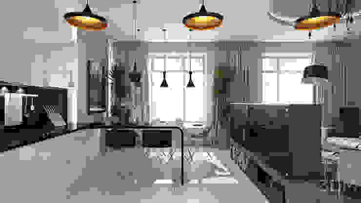 16 Кухня в стиле минимализм от студия визуализации и дизайна интерьера '3dm2' Минимализм