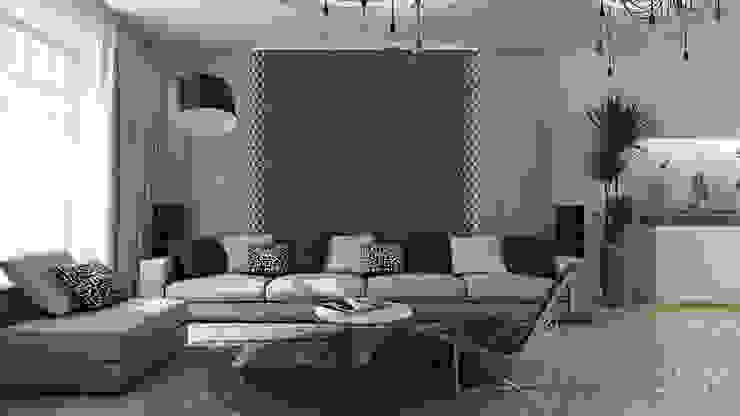 18 Гостиная в стиле минимализм от студия визуализации и дизайна интерьера '3dm2' Минимализм