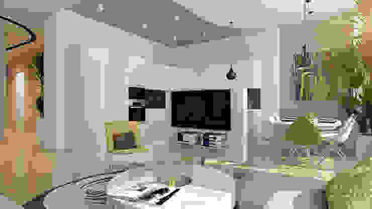 19 Гостиная в стиле минимализм от студия визуализации и дизайна интерьера '3dm2' Минимализм