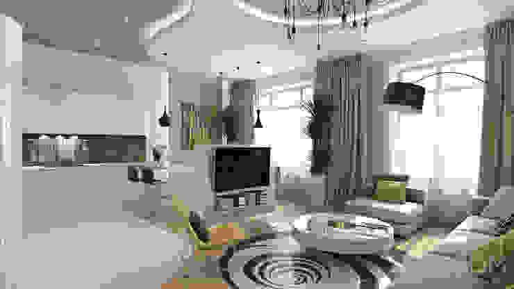 20 Гостиная в стиле минимализм от студия визуализации и дизайна интерьера '3dm2' Минимализм