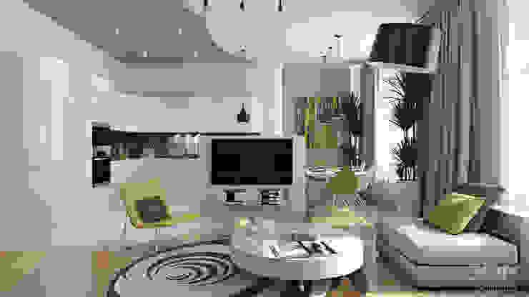 21 Гостиная в стиле минимализм от студия визуализации и дизайна интерьера '3dm2' Минимализм