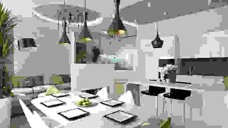22 Столовая комната в стиле минимализм от студия визуализации и дизайна интерьера '3dm2' Минимализм