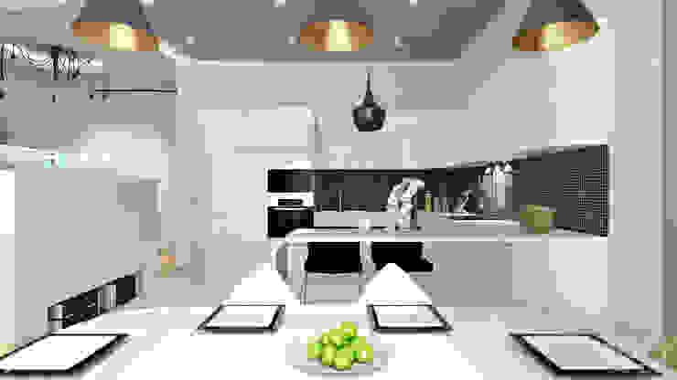 23 Столовая комната в стиле минимализм от студия визуализации и дизайна интерьера '3dm2' Минимализм