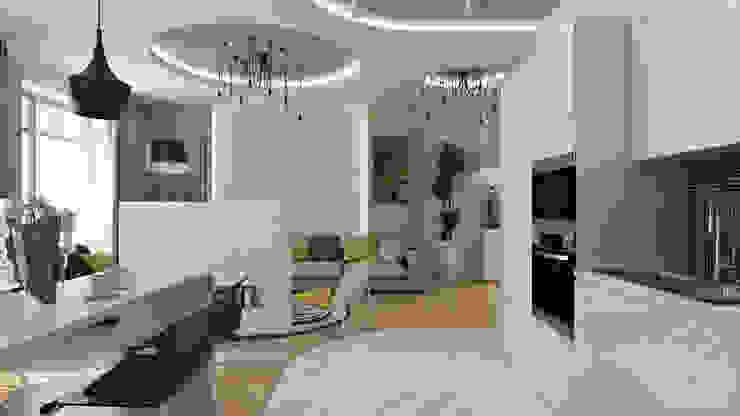 24 Кухня в стиле минимализм от студия визуализации и дизайна интерьера '3dm2' Минимализм
