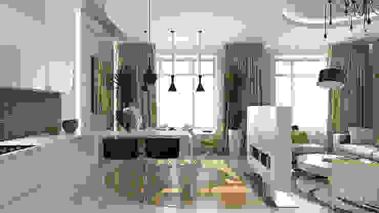25 Кухня в стиле минимализм от студия визуализации и дизайна интерьера '3dm2' Минимализм