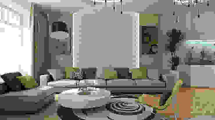 26 Гостиная в стиле минимализм от студия визуализации и дизайна интерьера '3dm2' Минимализм