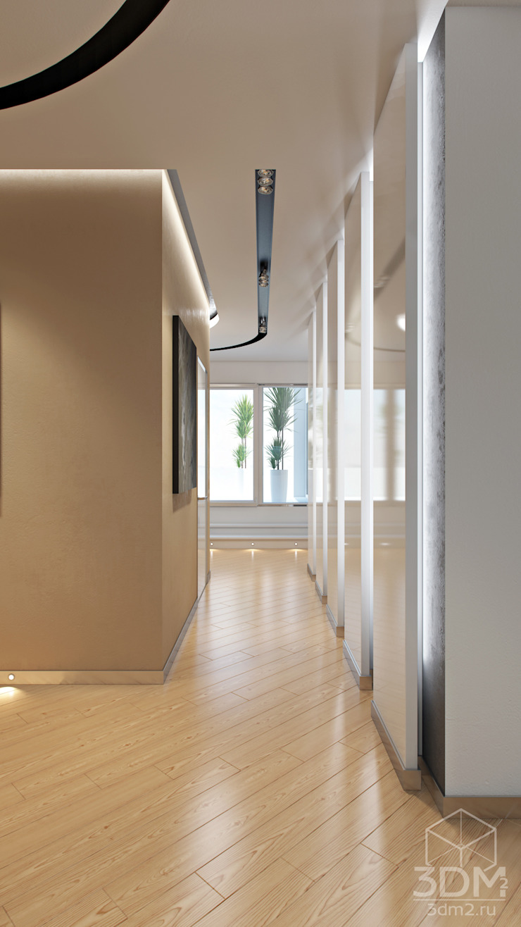 30 Коридор, прихожая и лестница в стиле минимализм от студия визуализации и дизайна интерьера '3dm2' Минимализм
