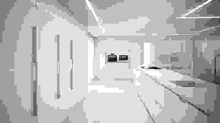 Chiralt Arquitectos Minimalist kitchen
