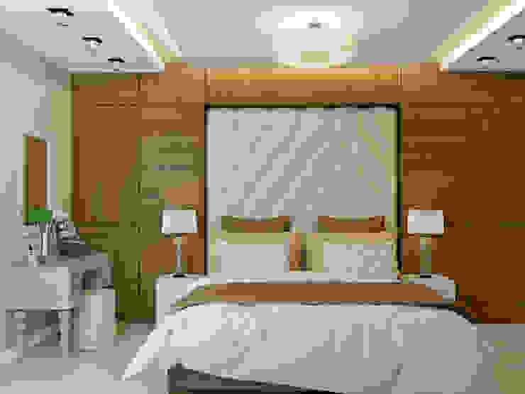трехкомнатная квартира в г.Железнодорожном Спальня в эклектичном стиле от 'Лайф Арт' Эклектичный