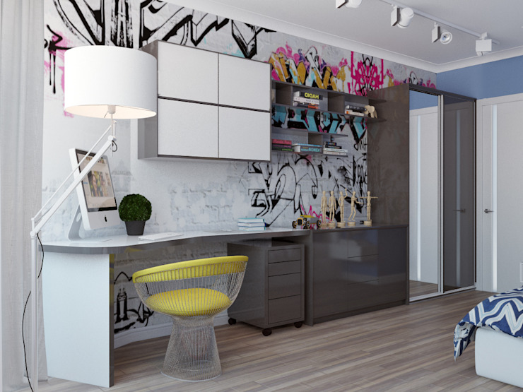 трехкомнатная квартира в г.Железнодорожном Детская комната в стиле лофт от 'Лайф Арт' Лофт