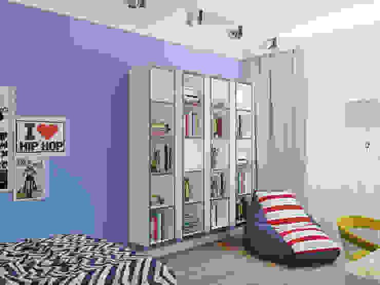 трехкомнатная квартира в г.Железнодорожном Спальня в стиле лофт от 'Лайф Арт' Лофт