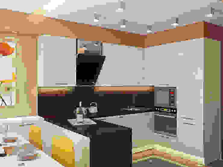 трехкомнатная квартира в г.Железнодорожном Кухни в эклектичном стиле от 'Лайф Арт' Эклектичный