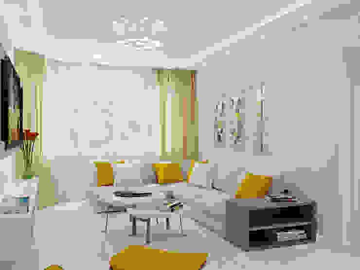 трехкомнатная квартира в г.Железнодорожном Гостиные в эклектичном стиле от 'Лайф Арт' Эклектичный